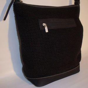 THE SAK by Elliott Lucca Black Woven Crochet Purse